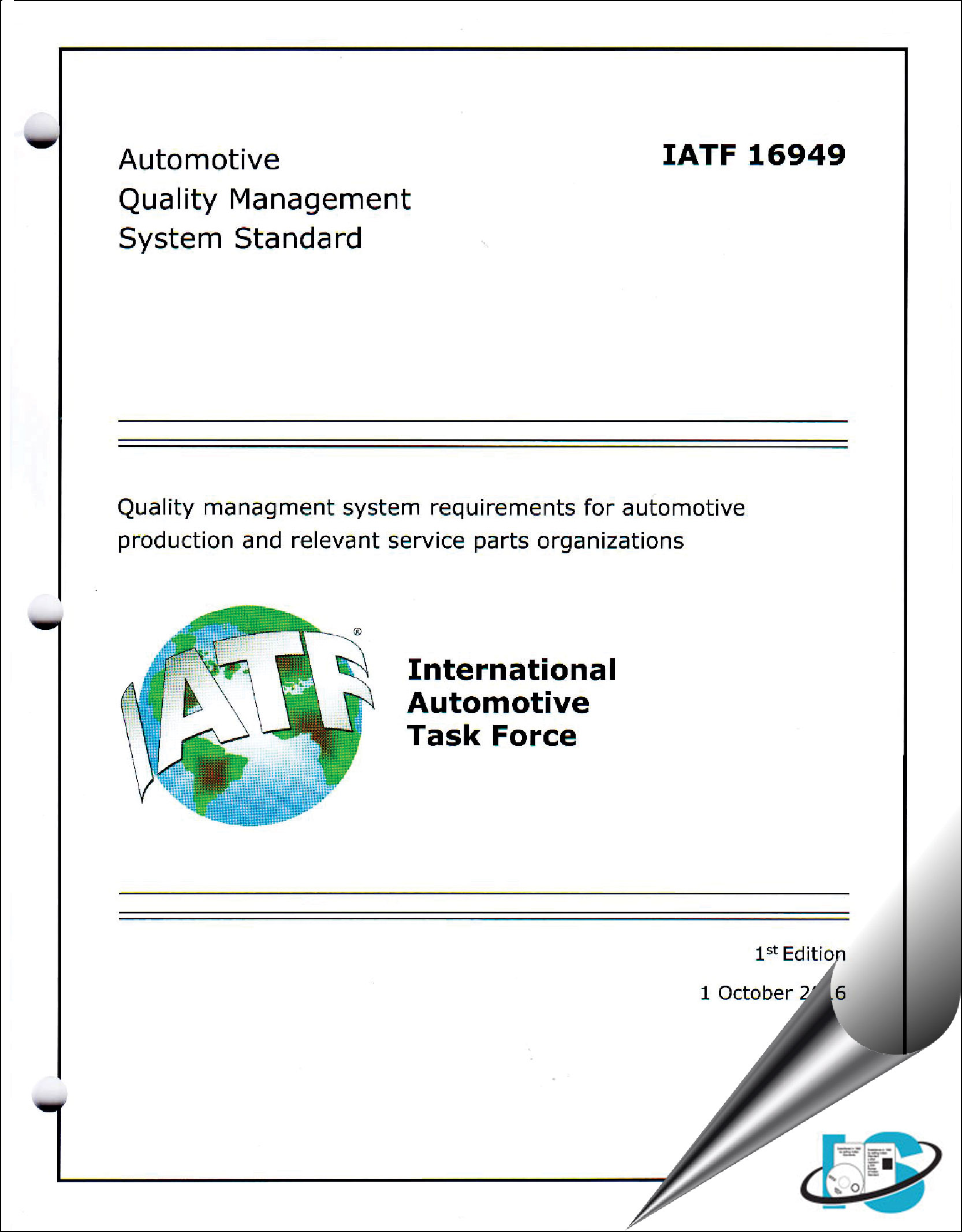 Iatf 16949 2016 Quality Management System Requirements